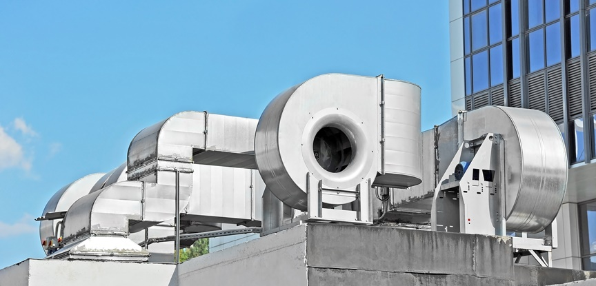 foto de sistema de ventilação industrial