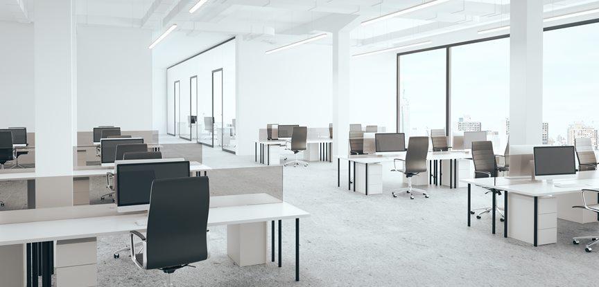 escritório com ar limpo